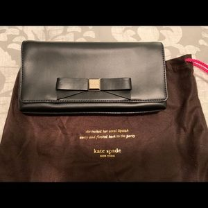 Kate Spade (Outlet) Leather Clutch with Bow - NWT